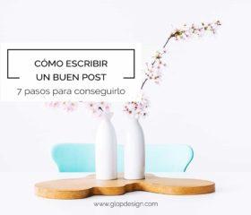 7 pasos para escribir un buen post | GlopDesign